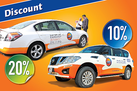 Discount on Desert Driving Course & Defensive Driving Course