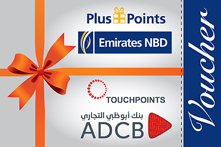 Emirates NBD plus points voucher scheme & ADCB Touch points voucher